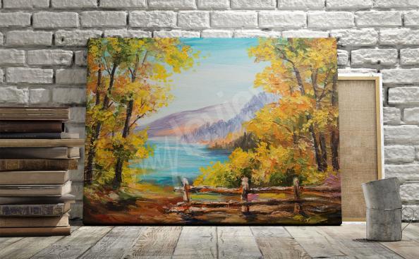 Fall landscape print