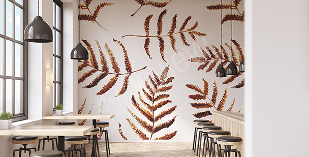 Fall leaves mural
