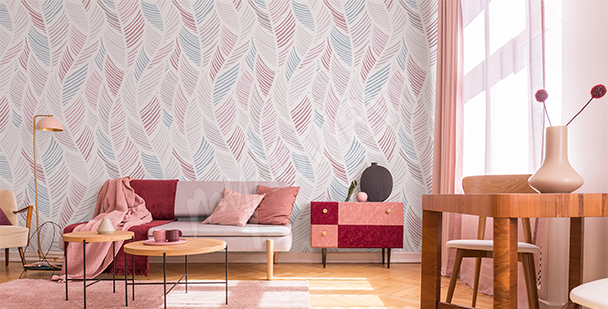 Feather pattern mural