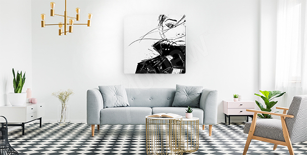 Female drawing canvas print