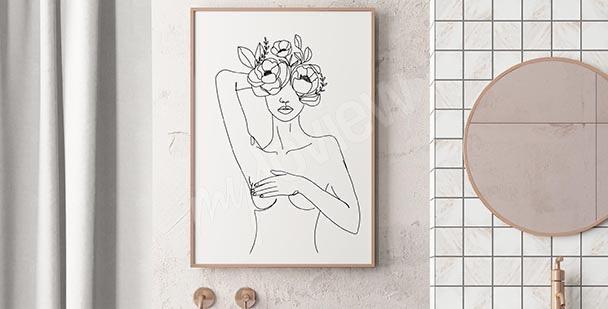 Feminine bathroom poster