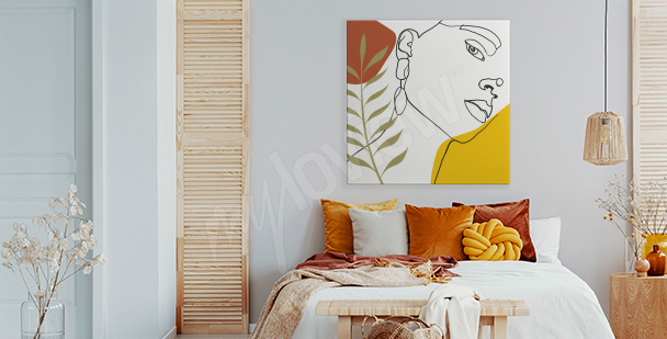 Feminine bedroom canvas print