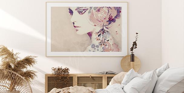 Feminine poster with subtle colours