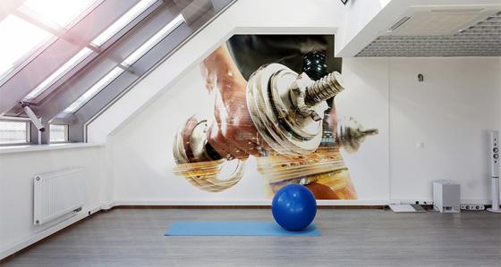 A legal doping: fitness murals and posters for fitness club and gym