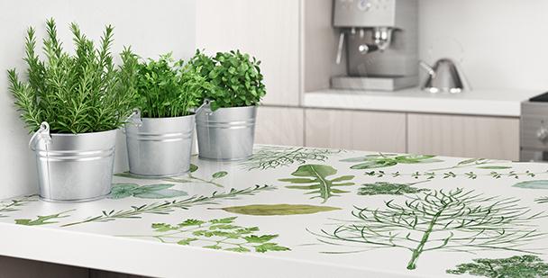 Floral kitchen sticker