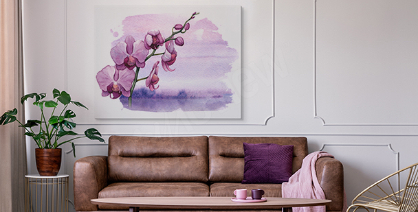 Floral style canvas print
