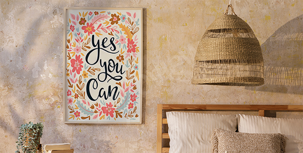 Floral style poster