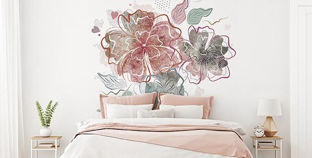 Flowers bedroom sticker