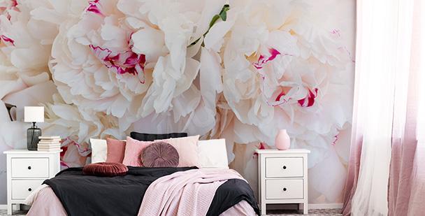 Flowery bedroom mural
