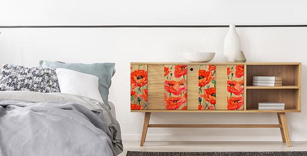Flowery cabinet sticker