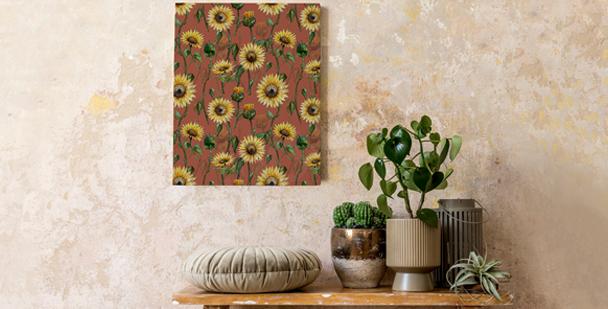 Flowery field canvas print