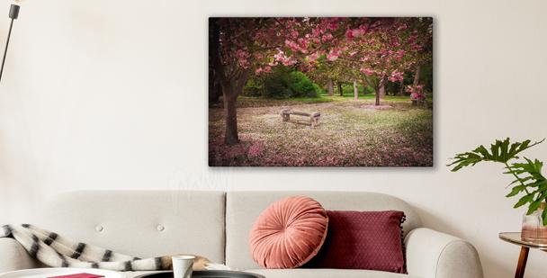 Flowery garden canvas print