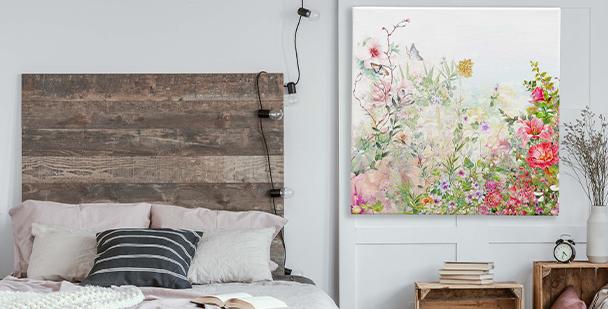 Flowery meadow canvas print
