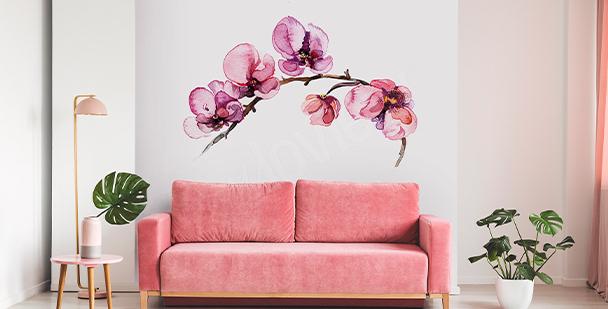 Flowery wall sticker