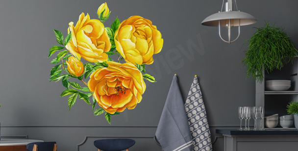 Flowery wall sticker