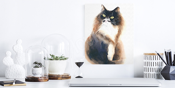 Fluffy cat canvas print