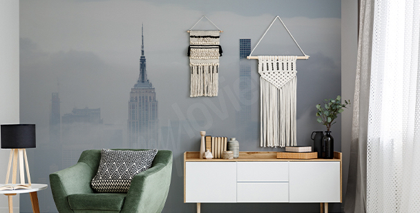 Foggy New York mural