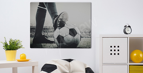 Football match canvas print