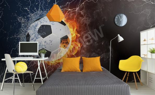 Football wall mural for kids
