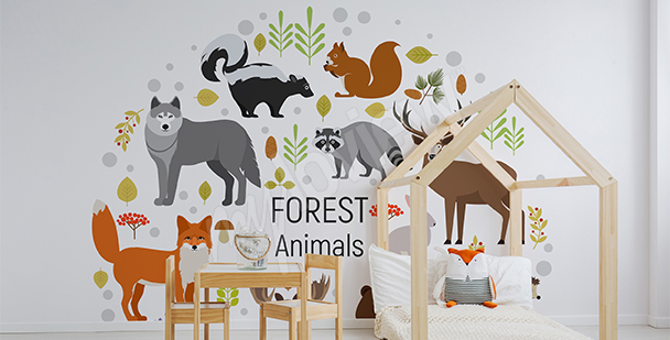 Forest animals sticker