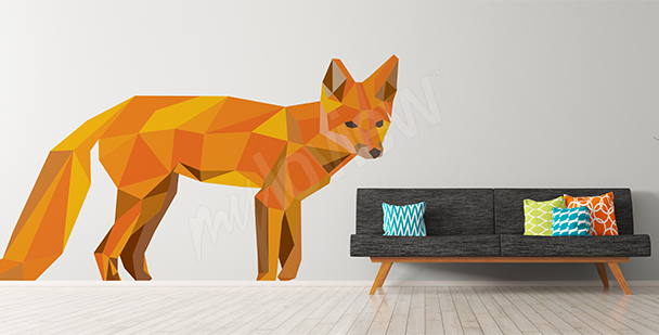 Fox geometric sticker
