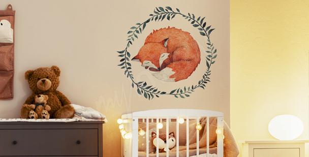 Fox sticker for children