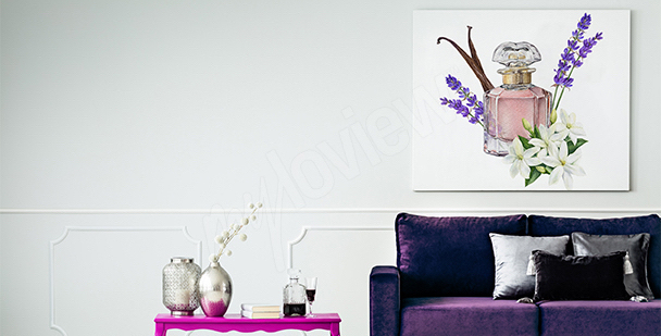 French style canvas print