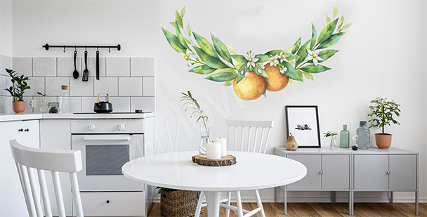 Fruit dining room sticker
