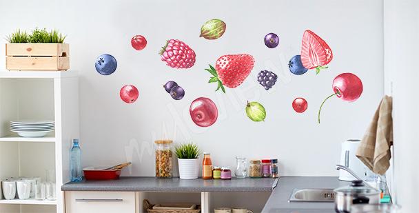 Fruit kitchen stickers