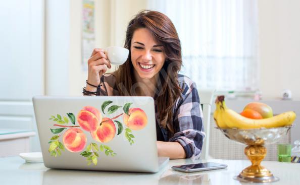 Fruity laptop sticker