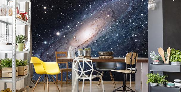 Galaxy dining room mural