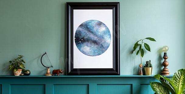 Galaxy motif poster