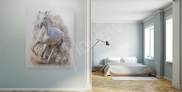 Galloping mare canvas print