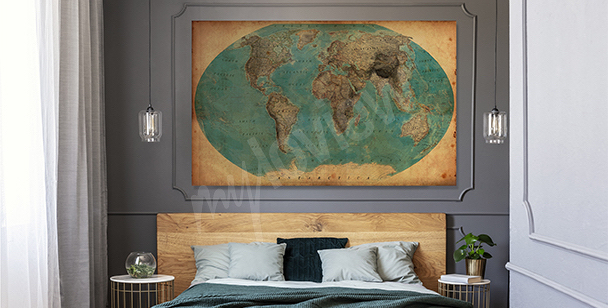 Geographic motif canvas print