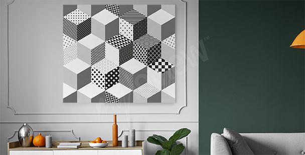 Geometric 3D canvas print