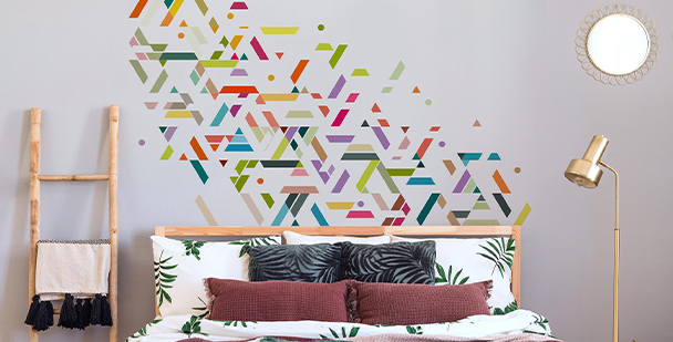 Geometric stripes sticker