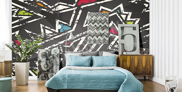 Graffiti mural for a bedroom