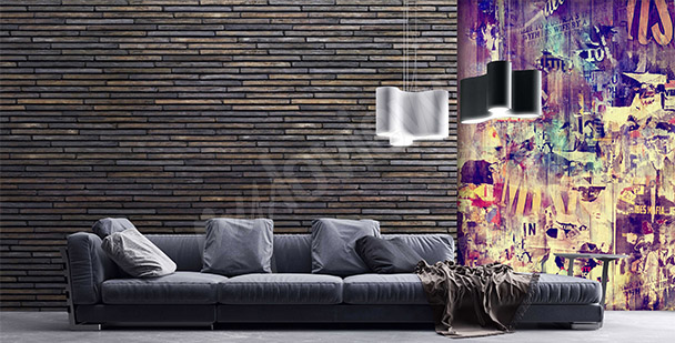 Graffiti mural for a living room