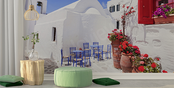 Greek town mural