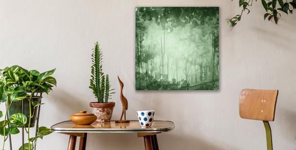 Green grove canvas print