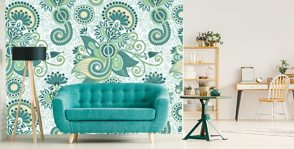 Green mural for the living room