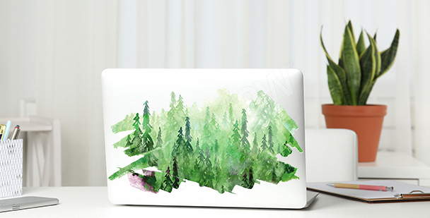 Green watercolor sticker
