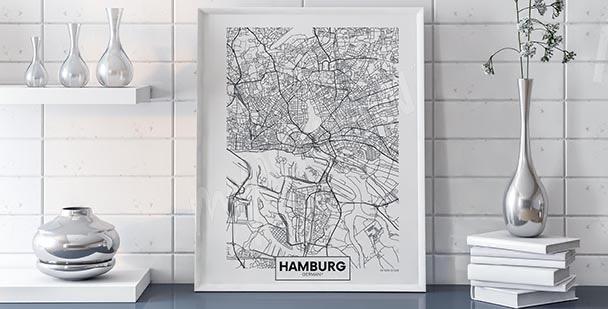 Hamburg map poster
