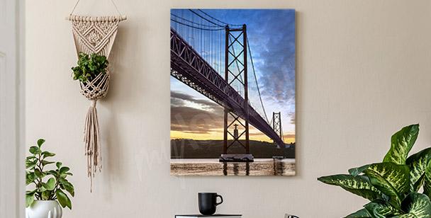 Hanging bridge canvas print