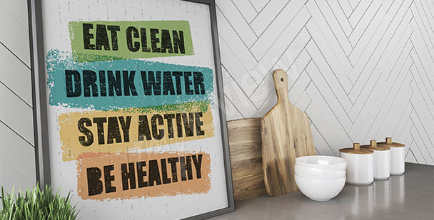 Health-living poster