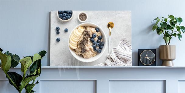 Healthy porridge canvas print