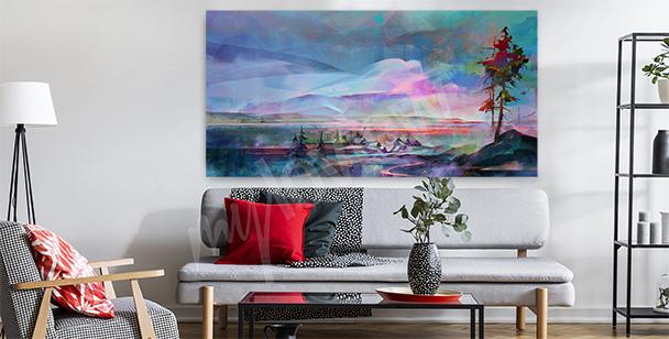 Holographic landscape canvas print