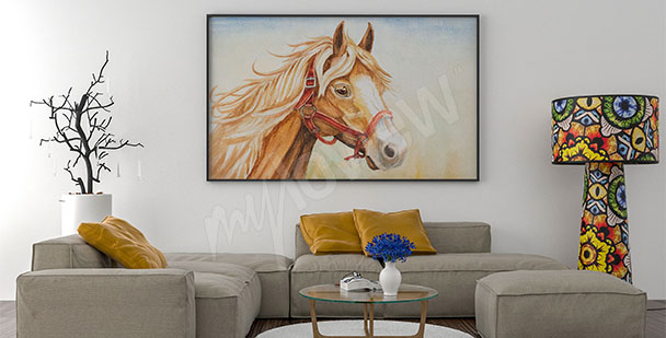 Horse canvas print for living room
