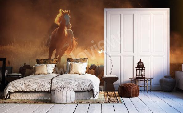 Horse mural for bedroom