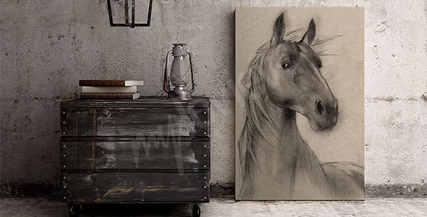 Horse's head canvas print